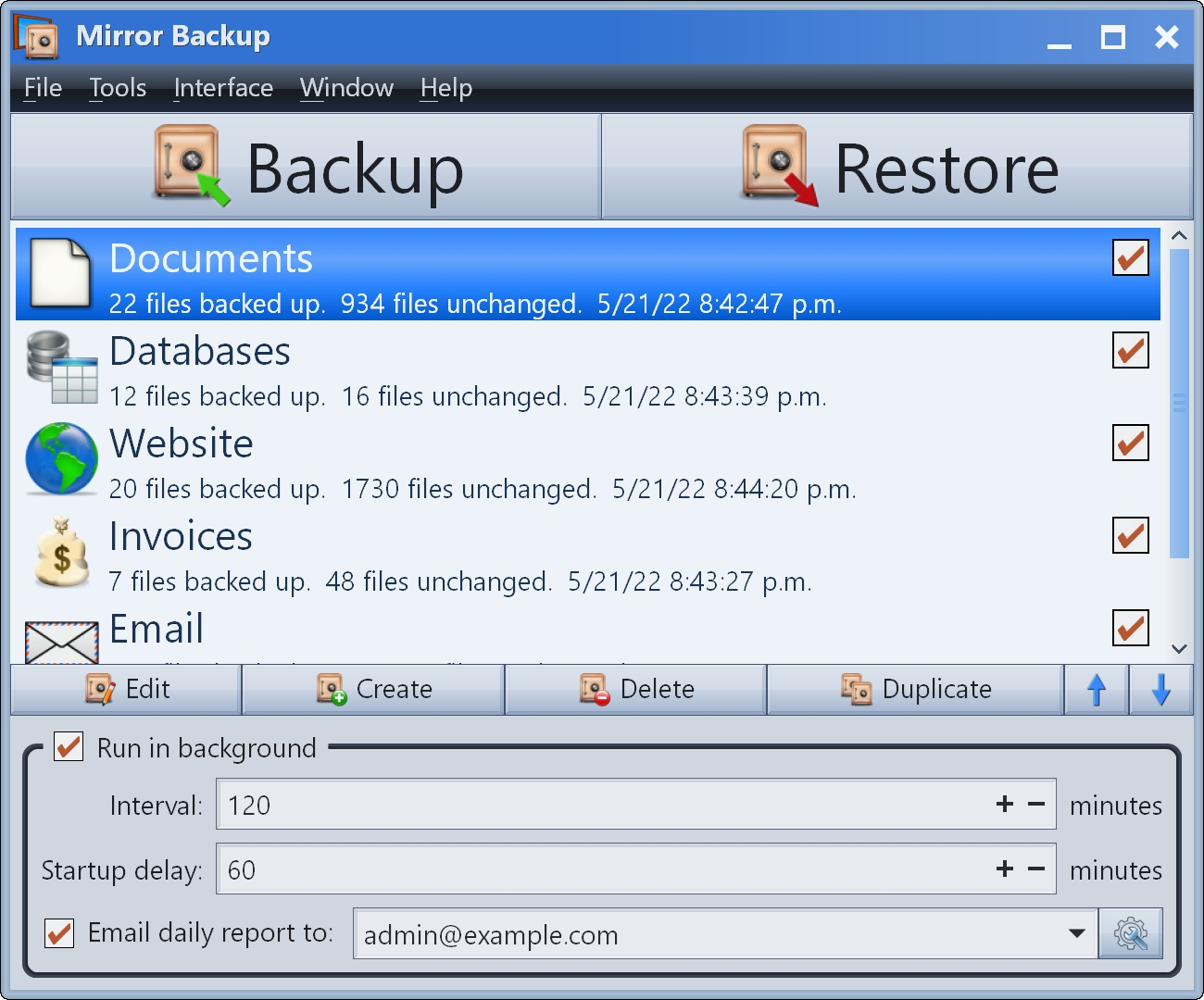 Mirror Backup screenshot #2