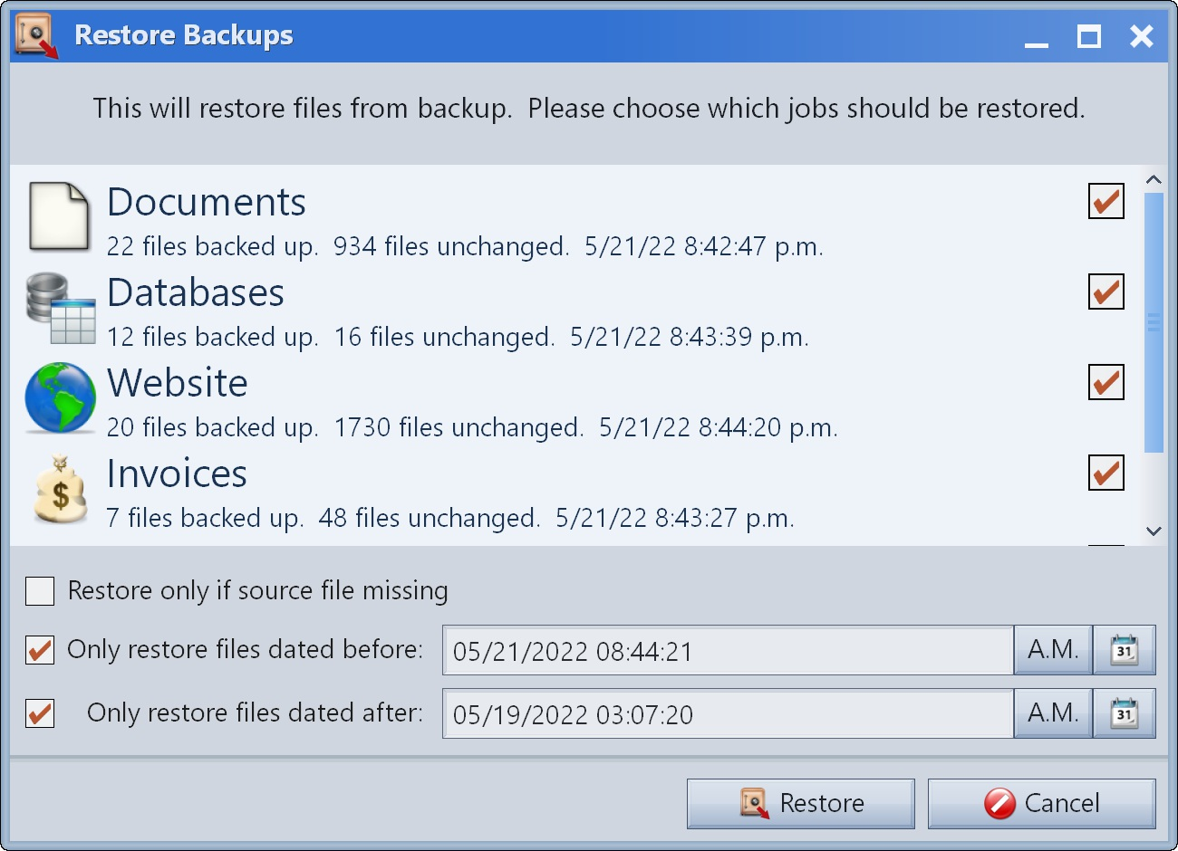 Mirror Backup screenshot #4